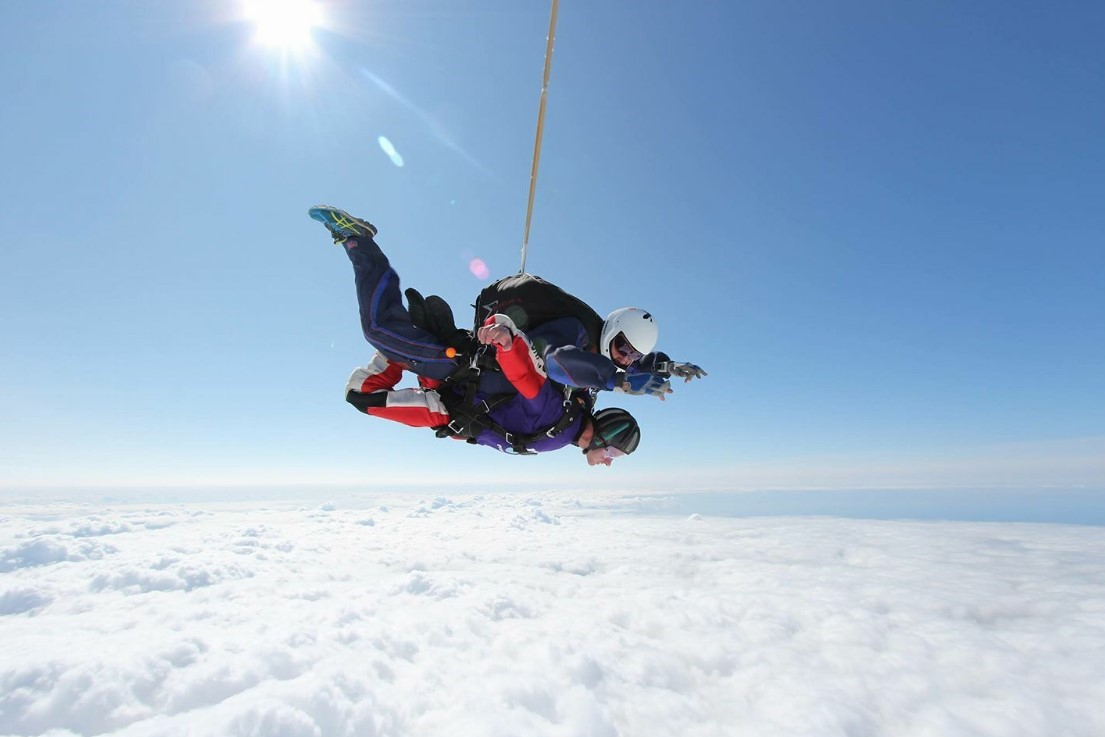 Image of a man Skydiving
